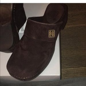 CHANEL Shoes - Chanel Brown Suede Mules